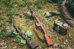 Soviet and German rifles of World War II - SVT 40 Stock Images