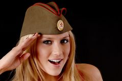 Soviet Girl Royalty Free Stock Photography