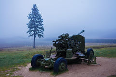 Soviet grenade launcher in WWII Royalty Free Stock Images