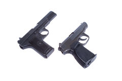 Soviet handgun TT and PMM Stock Images