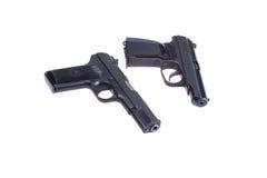 Soviet handgun TT and PMM Royalty Free Stock Photography