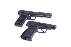 Soviet handgun TT and PMM Royalty Free Stock Photos