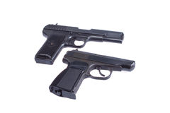 Soviet handgun TT and PMM Royalty Free Stock Photo