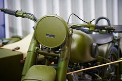 Soviet heavy motorcycle M-72 Royalty Free Stock Photography