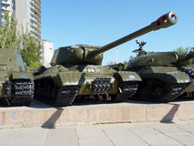 Soviet heavy IS-2 tank Stock Photography