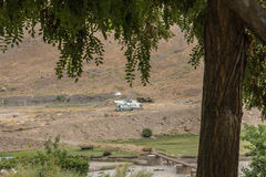 Soviet helicopter in afghanistan Stock Images