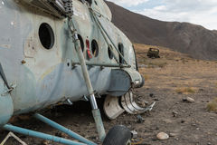 Soviet helicopter in afghanistan Royalty Free Stock Images