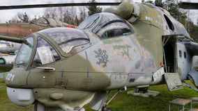 Soviet helicopter MI-24 Stock Photography