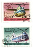 Soviet helicopters Stock Photo