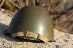 Soviet helmet Stock Images