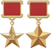 Soviet Hero Stars Stock Images