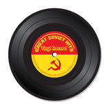 Soviet hits vinyl record. Isolated vinyl record with the text great soviet hits written on the record Royalty Free Stock Photos