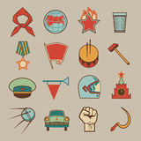 Soviet icons color Stock Image