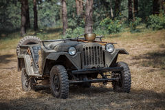 Soviet jeep. The Soviet jeep GAZ 67 royalty free stock photo