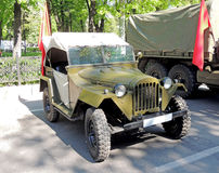 Soviet jeep GAZ-67 Stock Images