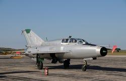 Soviet jetfighter stock photography