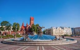 The soviet landmarks of Minsk, Belarus stock photography