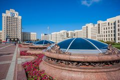 The soviet landmarks of Minsk, Belarus royalty free stock images