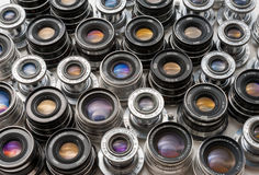 Soviet lenses set Royalty Free Stock Images