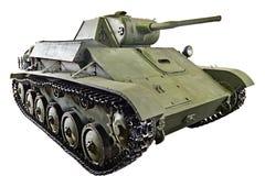 Soviet light infantry tank T-70 isolated Royalty Free Stock Photos