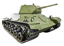 Soviet light infantry tank T-126 SP  isolated Royalty Free Stock Image