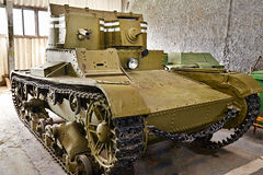 Soviet light infantry twin-turret tank T-26 Stock Photography