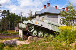 Soviet light semi armored tracked artillery tractor AT-P Royalty Free Stock Image