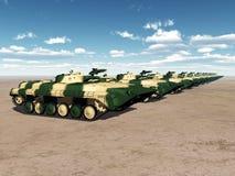 Soviet Light Tanks. Computer generated 3D illustration with Soviet Light Tanks Stock Photos