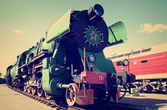 Soviet locomotive Stock Photos