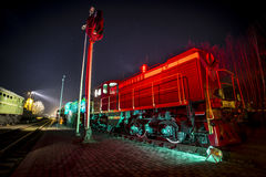 Soviet locomotive train Stock Photos