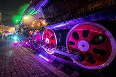 Soviet locomotive train Royalty Free Stock Images