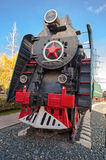Soviet long-haul passenger locomotive Stock Images