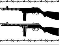 Soviet machine gun Stock Images