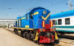 Soviet-made shunter diesel locomotive at Tashkent Station Stock Images
