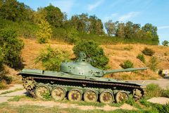 Soviet main battle tank T-72. Royalty Free Stock Photo