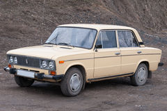 Soviet medium-sized family car Stock Photography