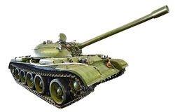 Soviet medium tank T-55.isolated Royalty Free Stock Photo