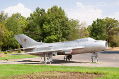 Soviet old MIG-15 airplane. The Mikoyan-Gurevich MiG-15 jet fighter aircraft of Soviet Union , located in Victory Park, Yerevan, Armenia Royalty Free Stock Image