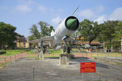 Soviet MiG-21 close up. City Museum, Hue Stock Photos