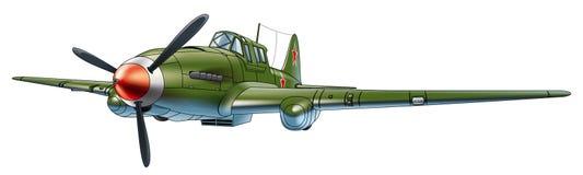 Soviet military aircraft stock photo