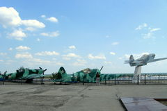 Soviet military aircrafts. The Museum of the Stalingrad battle panorama, The technique of the second world war, Stalingrad Royalty Free Stock Images