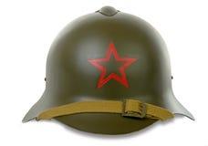 Soviet military helmet Stock Photo