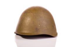 Soviet military helmet. On white background Stock Photo