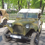 Soviet military light truck of WWII GAZ-67 with top up Royalty Free Stock Image