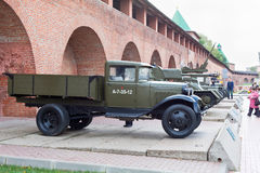 Soviet military lorry Stock Image