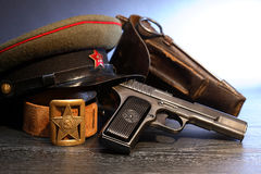 Soviet Military Officer Equipment Stock Image