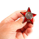 Soviet military order of  Red Star Stock Image