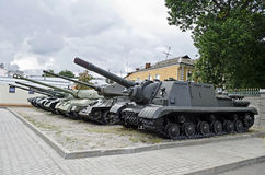 Soviet military tanks Royalty Free Stock Photo