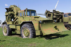Soviet military vehicle of tractor. Royalty Free Stock Photography