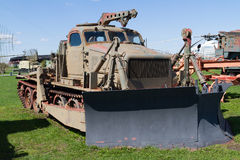 Soviet military vehicle of tractor. Royalty Free Stock Photo